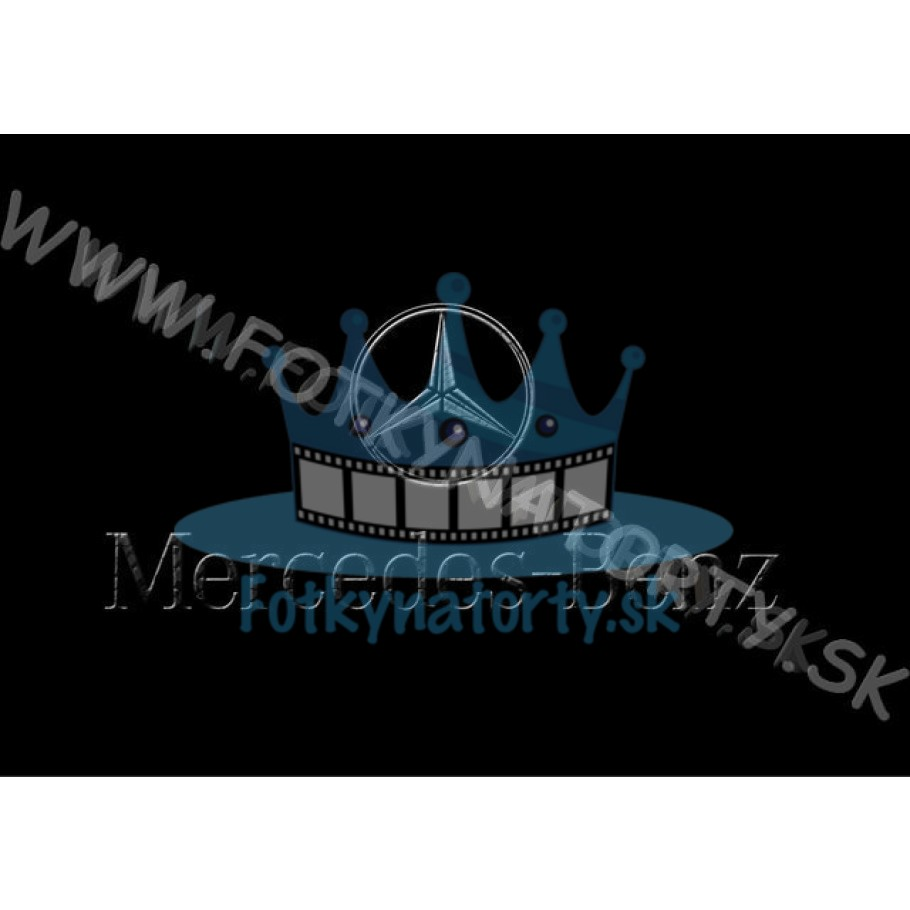 Mercedes-Benz logo - jedlý obrázok/ oblátka na tortu