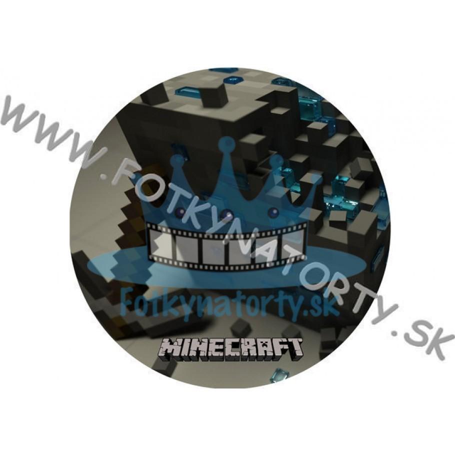 Minecraft I. - jedlý obrázok na tortu, tvar: kruh/ jedlé obrázky / Fotky na torty / jedlá tlač