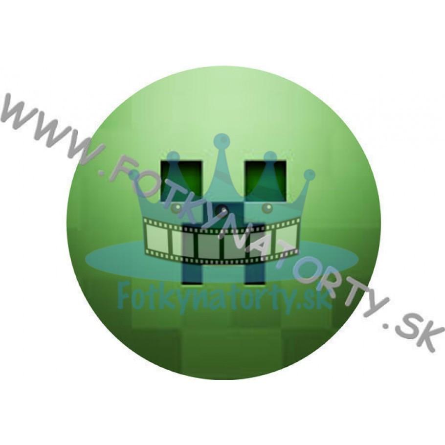 Minecraft III. -  - jedlý obrázok na tortu v tvare kruhu / jedlé obrázky / Fotky na torty / jedlá tlač