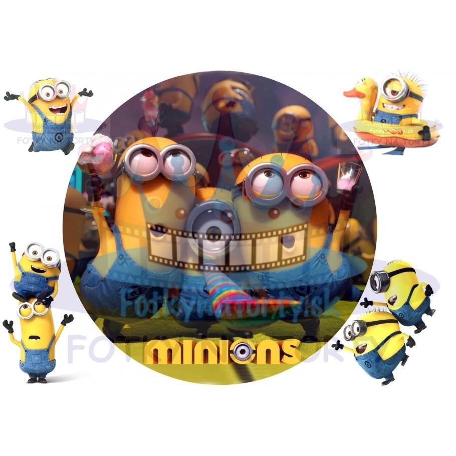 Mimoň / Mimoni / Minions na party - jedlý obrázok/ oblátka na tortu