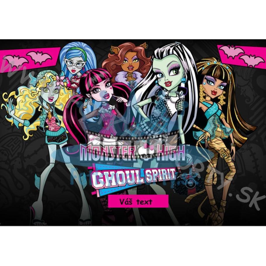 Monster High II. - jedlý obrázok/ oblátka na tortu