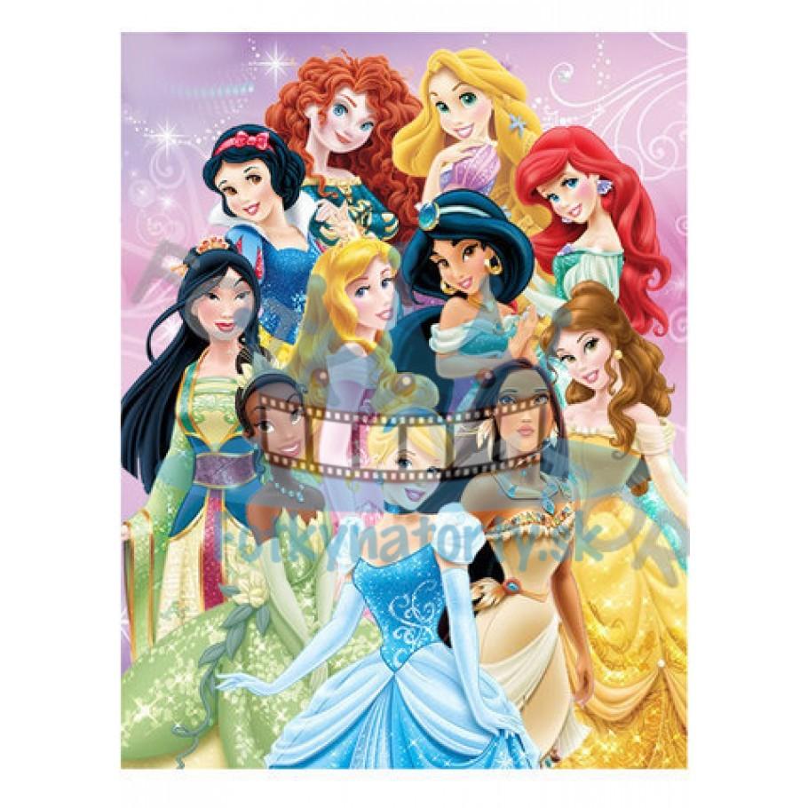 Princezné Disney II. - jedlý obrázok/ oblátka na tortu
