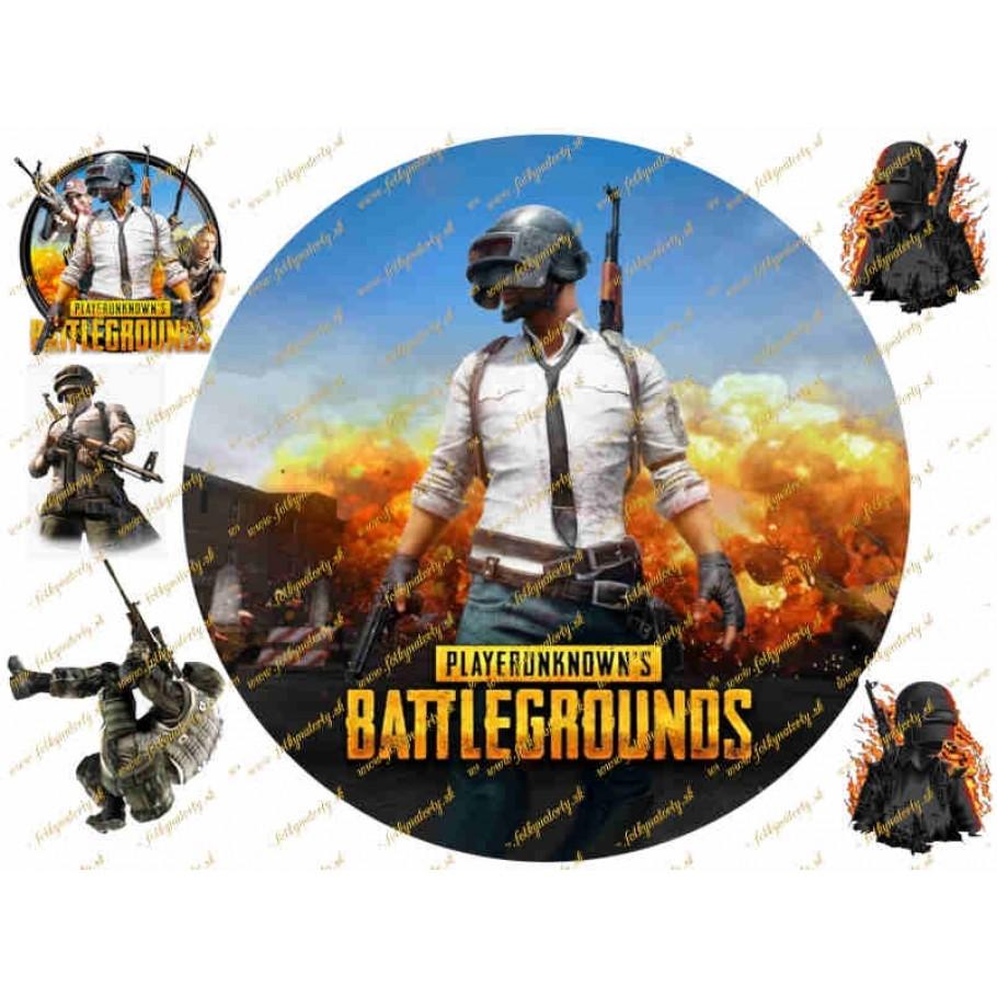PUBG PlayerUnknown's Battlegrounds na tortu jedlý obrázok vrátane dekorácií