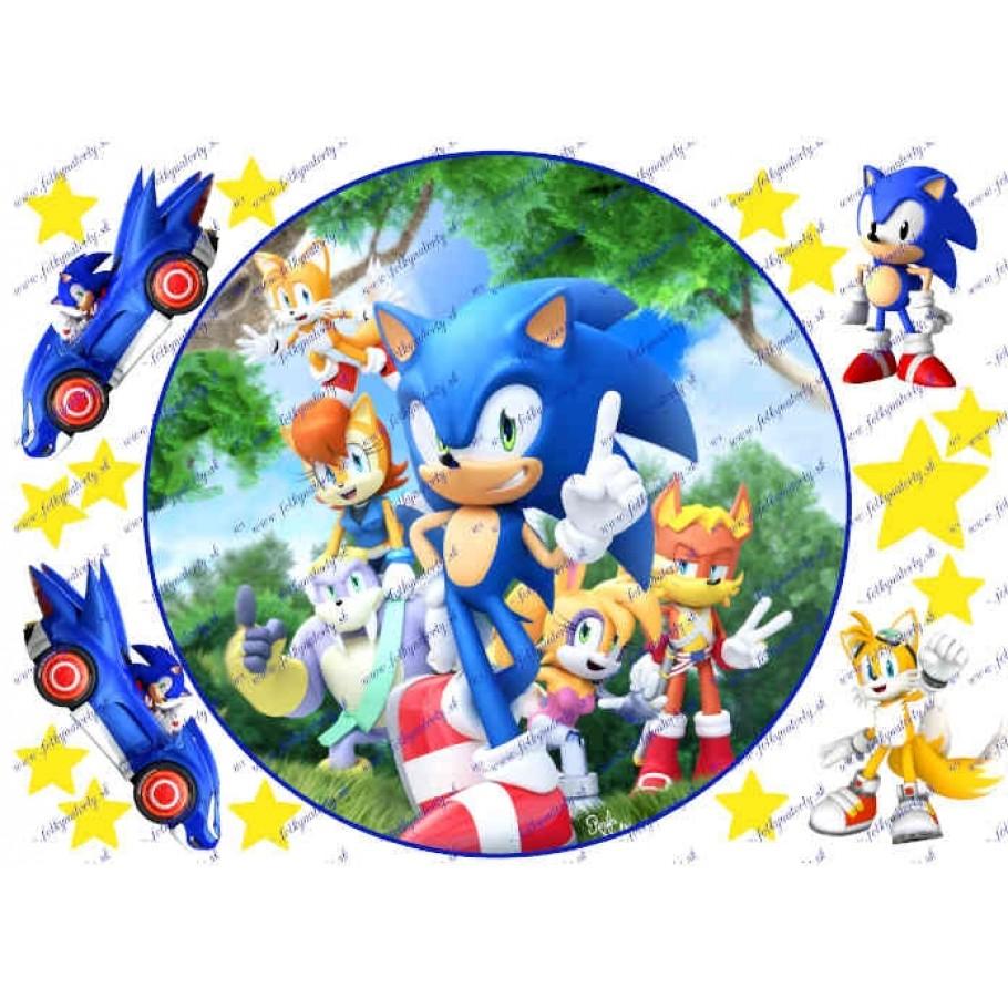 Jedlý obrázok na tortu Ježko Sonic the hedgehog