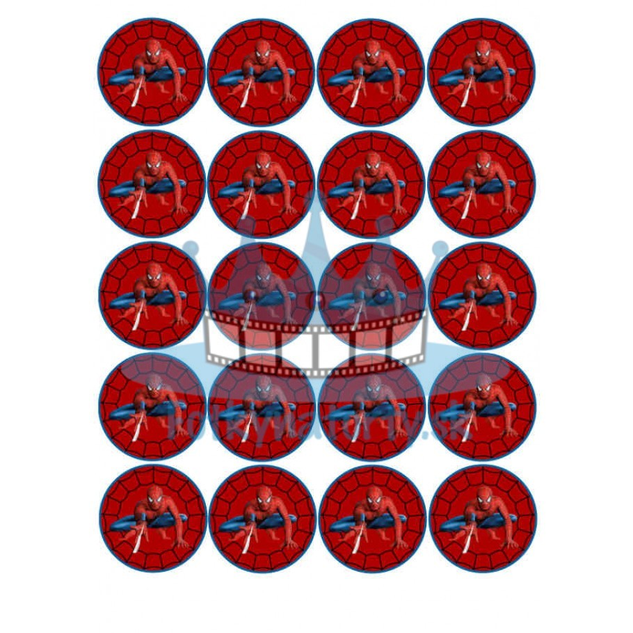 Spiderman - jedlé obrázky a oblátky na muffiny, medovníčky, cupcakes / jedlá oblátka / jedlý obrázok / na tortu / Fotky na torty