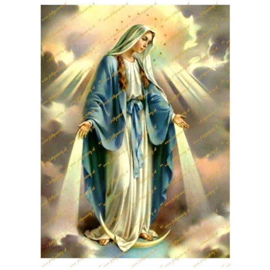 Jedlý obrázok na tortu Svätá Mária