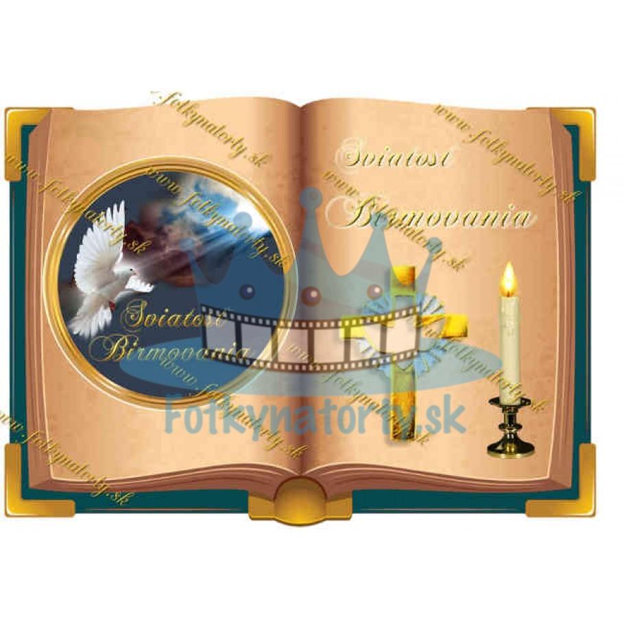 Sviatosť Birmovania - kniha  - jedlý obrázok/ oblátka na tortu