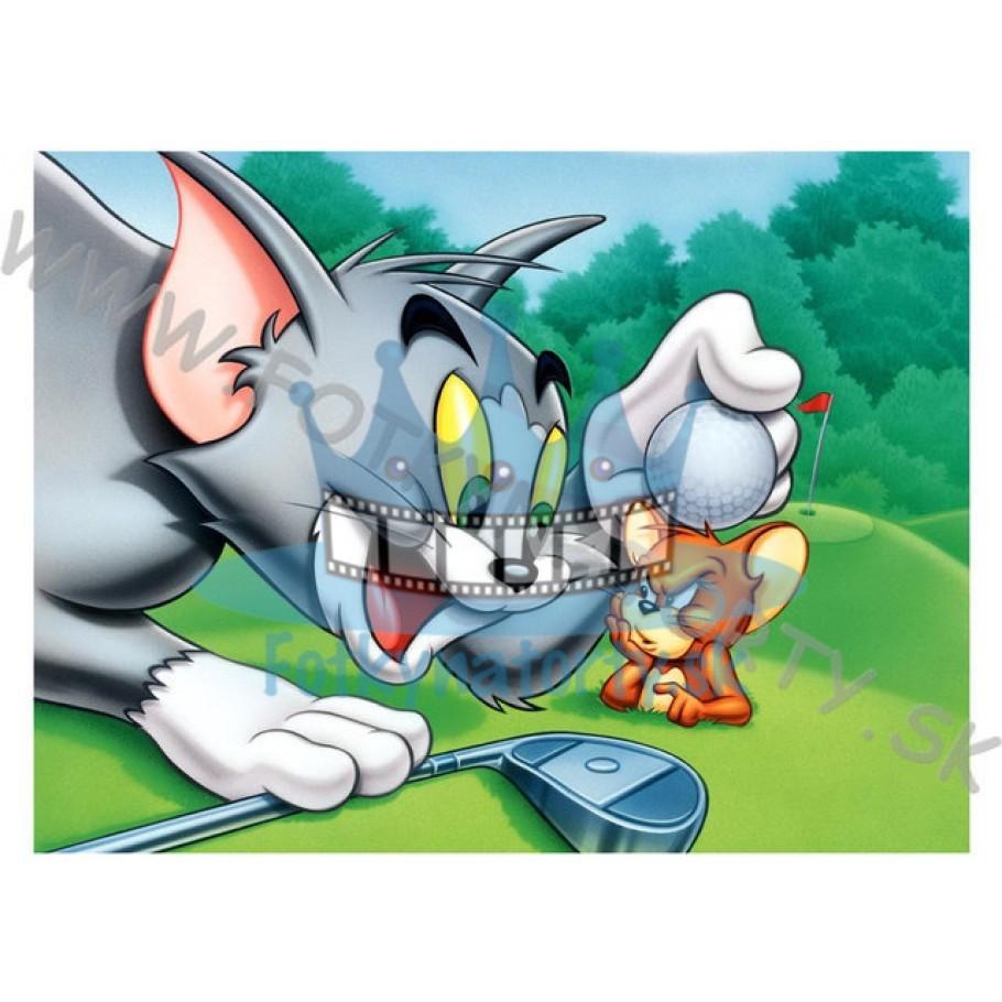 Tom a Jerry Golf - jedlý obrázok/ oblátka na tortu