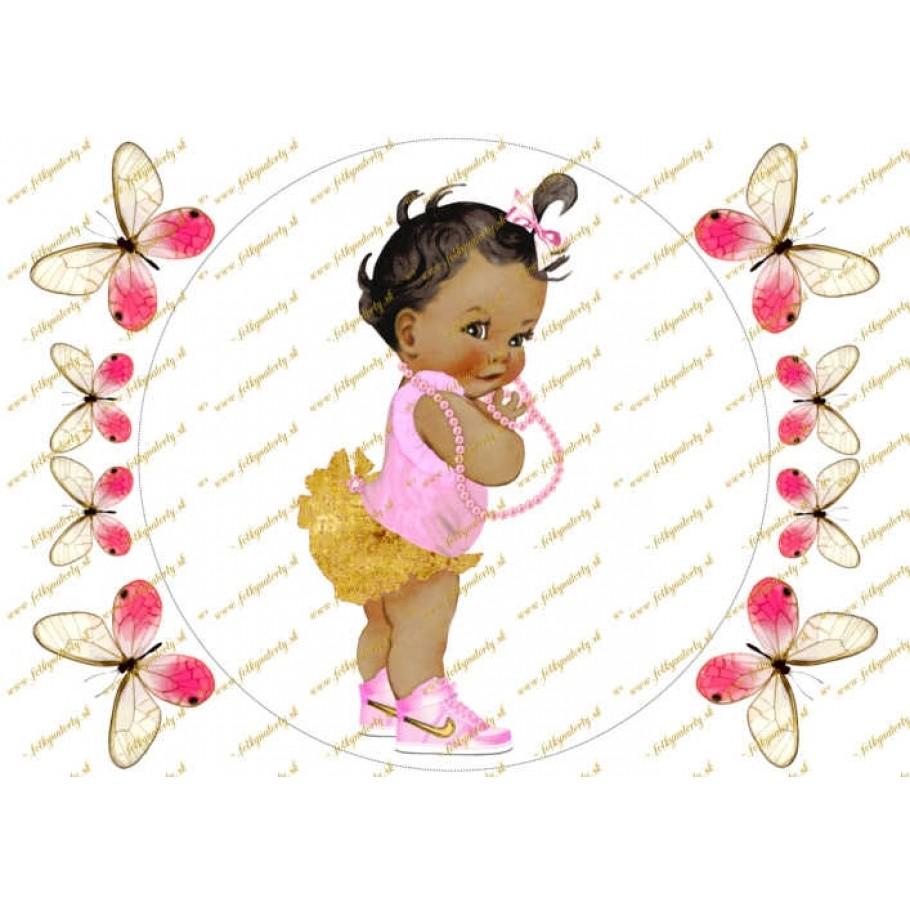 Bábätko dekorácia na tortu - kruh