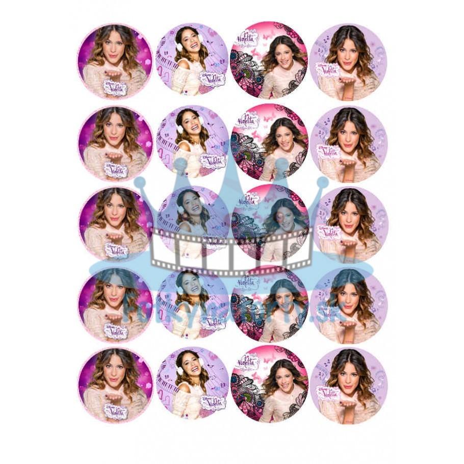Violetta na muffiny -20ks- jedlé okrúhle obrázky na zákusky, mafiny a iné dobroty KRUHY 5 cm priemer