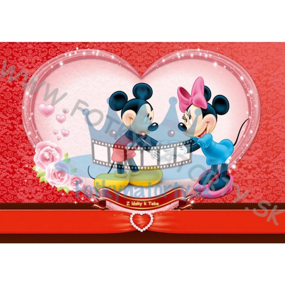 Z lásky k Tebe - Mickey&Minnie - jedlý obrázok/ oblátka na tortu