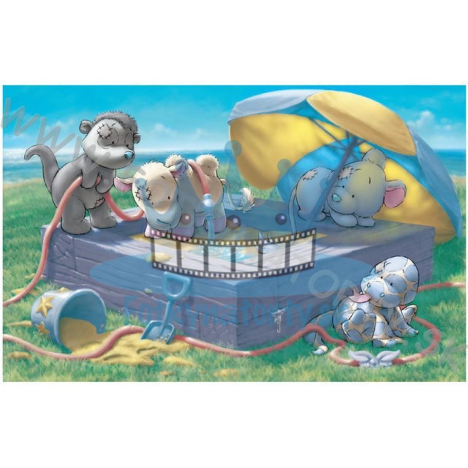 Oblátka / Jedlý obrázok na tortu pri narodení bábätka - zvieratká / Fotky na torty / jedlé obrázky / jedlá tlač